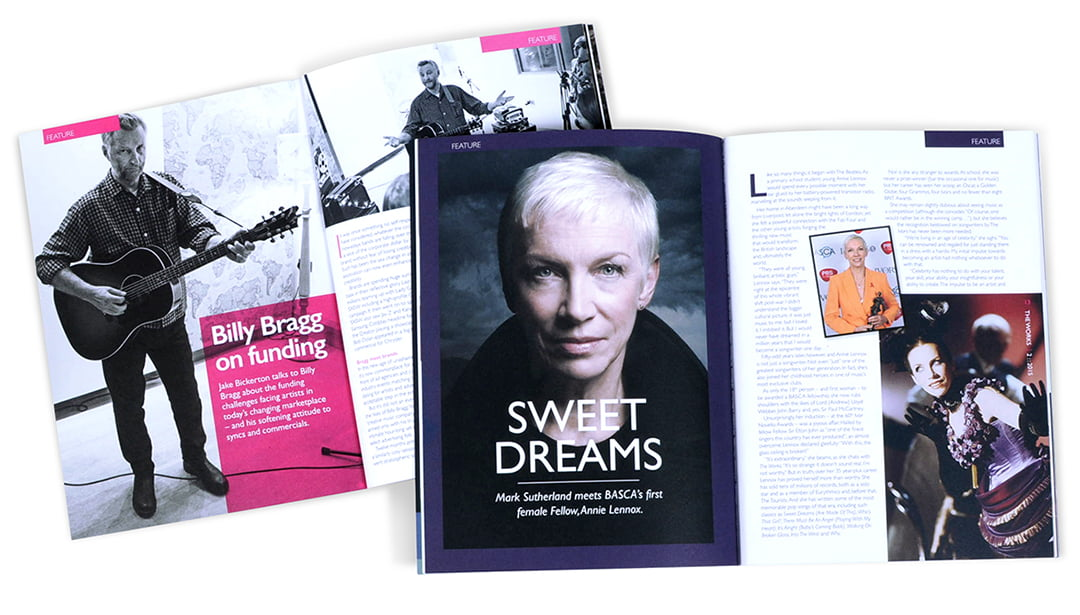 Magazine page design The Works Basca