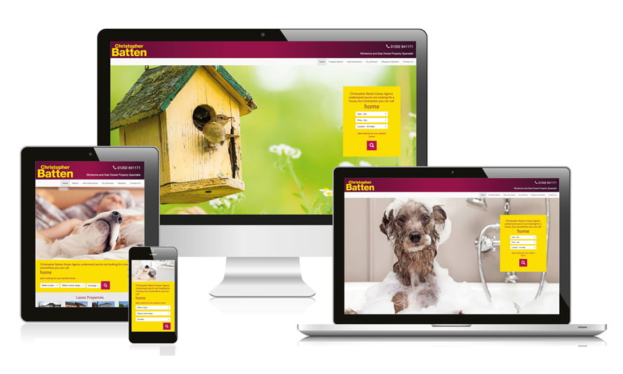 Responsive web design for property agents