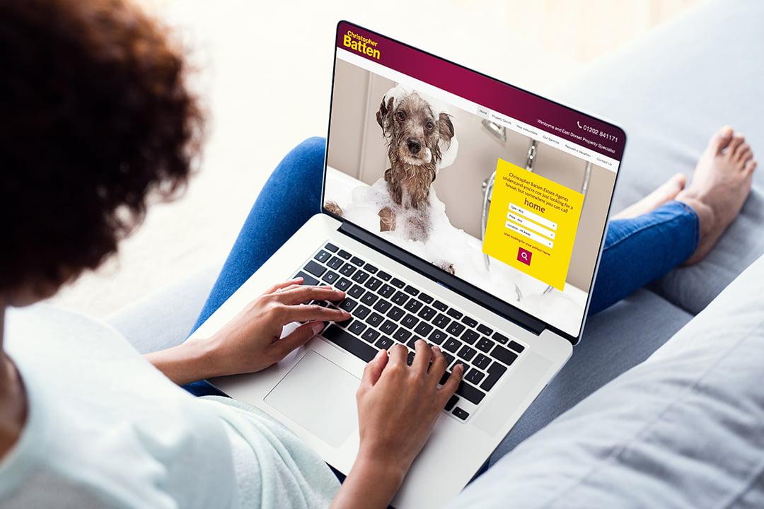 Website design for Christopher Batten estate agents