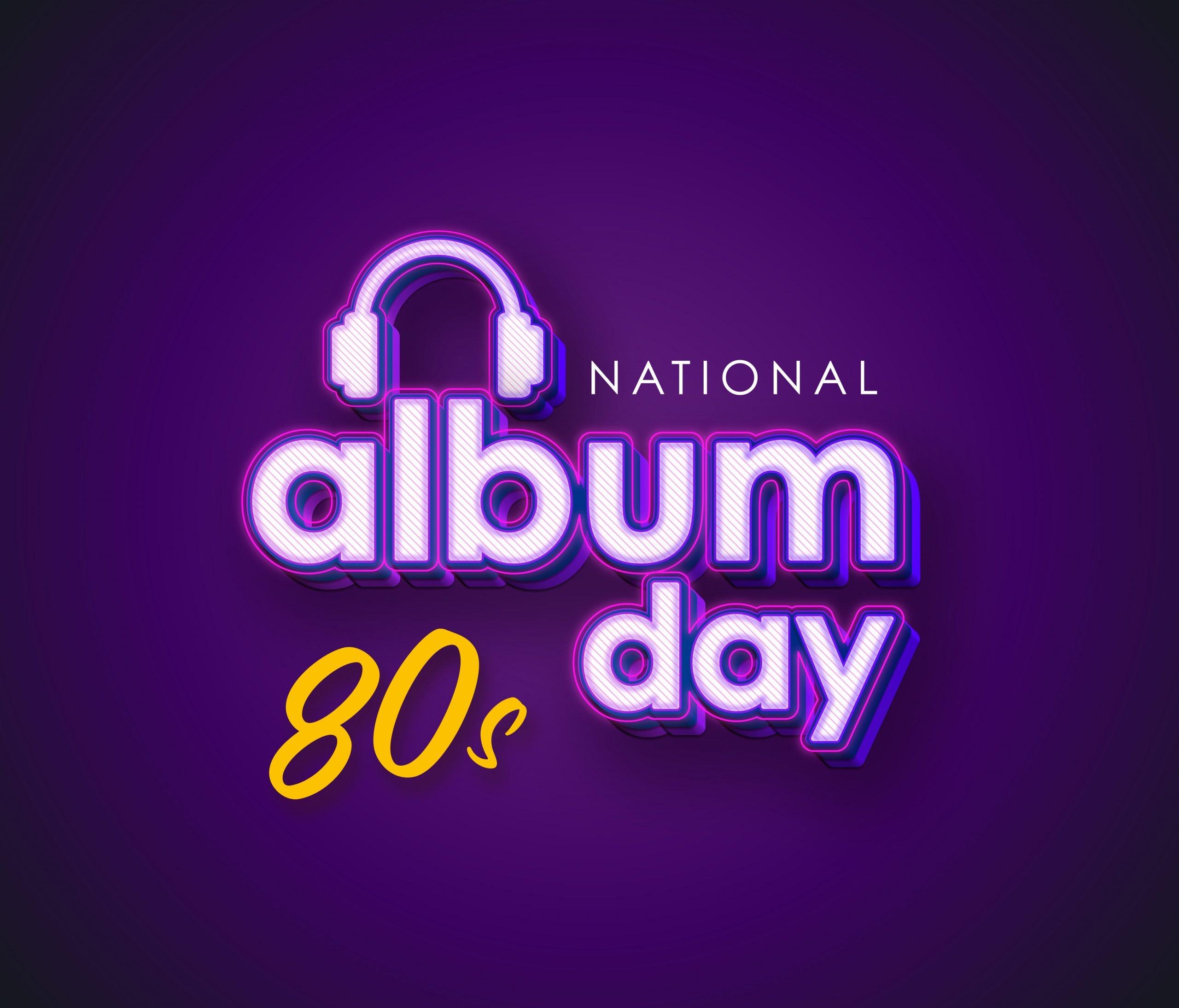 National album day logo and brand design